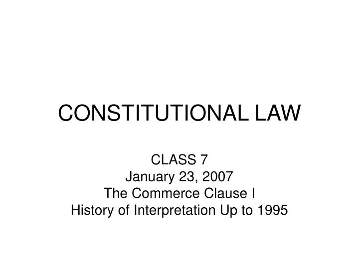 constitutional law n.