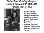 schechter poultry corp v united states 295 u s 495 1935 cb p 135