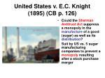 united states v e c knight 1895 cb p 126