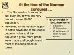 at the time of the norman conquest