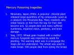 mercury poisoning tragedies