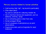 mercury sources related to human activities