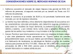consideraciones sobre el mercado hispano de eua