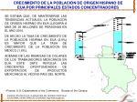 crecimiento de la poblaci n de origen hispano de eua por principales estados concentradores