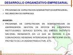 desarrollo organizativo empresarial