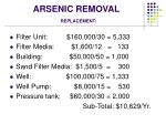 arsenic removal replacement