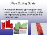 pipe cutting guide