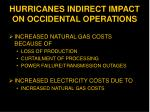 hurricanes indirect impact on occidental operations
