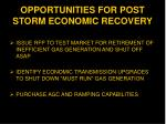 opportunities for post storm economic recovery