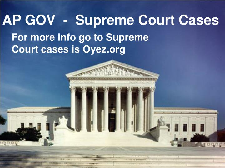 ap gov supreme court cases n.