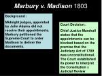 marbury v madison 1803