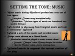setting the tone music