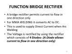 function bridge rectifier