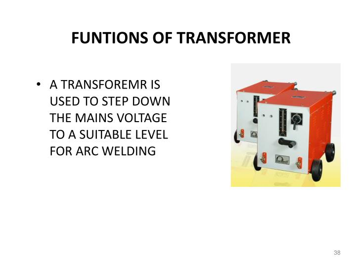 FUNTIONS OF TRANSFORMER