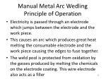 manual metal arc wedling principle of operation