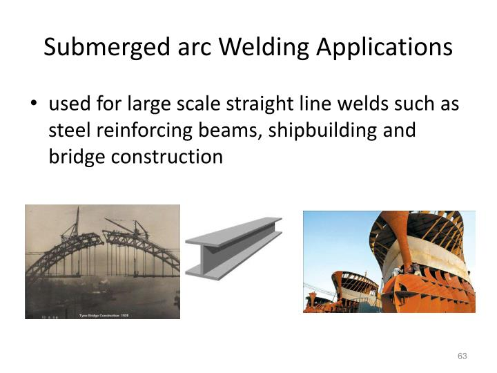 Submerged arc Welding Applications