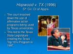 hopwood v tx 1996 5 th cir ct of appls