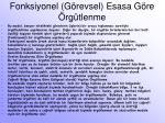fonksiyonel g revsel esasa g re rg tlenme