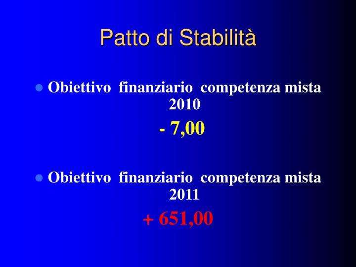 Patto di Stabilità