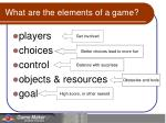 what are the elements of a game