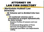 attorney or law firm directory