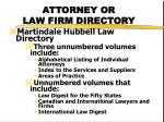 attorney or law firm directory1