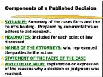 components of a published decision1