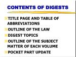 contents of digests