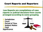 court reports and reporters