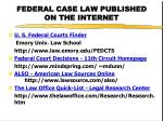 federal case law published on the internet1