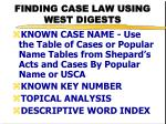 finding case law using west digests