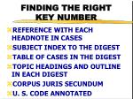 finding the right key number1