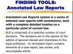 finding tools annotated law reports