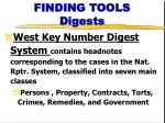 finding tools digests