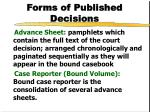 forms of published decisions1