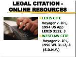 legal citation online resources