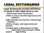 legal dictionaries