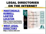 legal directories on the internet