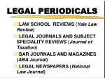 legal periodicals