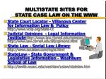multistate sites for state case law on the www
