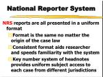 national reporter system2