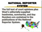 national reporter system5
