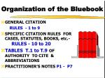 organization of the bluebook
