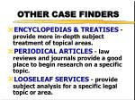 other case finders1