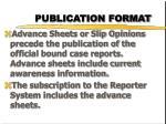 publication format