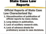 state case law reports