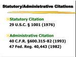 statutory administrative citations