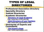 types of legal directories