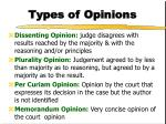 types of opinions1