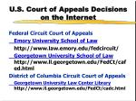 u s court of appeals decisions on the internet